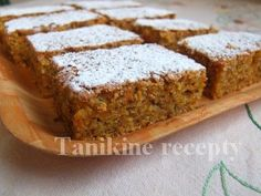 Mrkvové rezy Sweet Recipes, Healthy Recipes, Banana Bread, Smoothies, Carrots, Cheesecake, Food And Drink, Yummy Food, Sweets