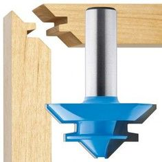Miter Saws Dia. X High x Shank 45 Degree Lock Miter Router Bit - Rockler Woodworking Tools - Tight miter joints are a hallmark of fine woodworking, and this bit will cut them in spades. Kids Woodworking Projects, Woodworking Furniture, Wood Projects, Wood Furniture, Woodworking Patterns, Woodworking Supplies, Furniture Plans, Woodworking Organization, Furniture Storage