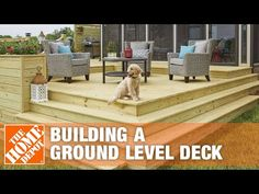 Ground Level Decks are perfect for outdoor entertaining and relaxing with family and friends. Check out The Home Depot's step-by-step guide to learn how to b. Two Level Deck, Ground Level Deck, How To Level Ground, 2 Level Deck Ideas, Freestanding Deck, Dyi, Patio Deck Designs, Patio Ideas, Platform Deck