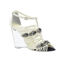 Chanel Chanel white high-heeled sandals