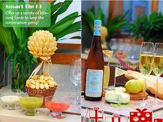 Edible topiary idea, Wine & cheese display
