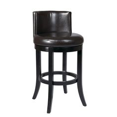 "$295 Metro Espresso Swivel Barstool Bellacor Number:  611554  Finish:  Espresso  Dimensions:  22""W x 40""H x 24""D   90 degrees and return to center"