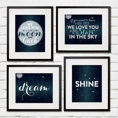 Love You to the Moon and Back Nursery Decor Print- Project Cottage