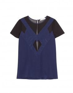 BLUE AND BLACK COMBO TOP