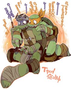 CUTE!!! I love Donnie & Mikey!!! | Donnie and Mikey | Teenage mutant