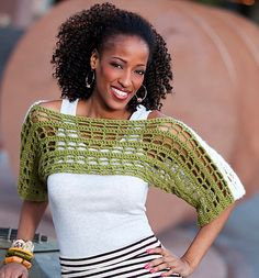 #Ravelry : Two-Tone Shrug pattern by Erika and Monika Simmons