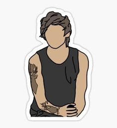 High quality Louis Tomlinson gifts and merchandise. Inspired designs on t-shirts, posters, stickers, home decor, and more by independent artists and designers from around the world. Printable Stickers, Cute Stickers, Desenho Harry Styles, One Direction Art, Harry Styles Drawing, One Direction Louis Tomlinson, Tumblr Transparents, Tumblr Stickers, Doodle Lettering