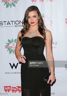 Model Dessie Mitcheson attends the BenchWarmer 10th annual Winter Wonderland Toys For Tots Christmas Celebration at Station Hollywood at W Hollywood Hotel on December 11, 2014 in Hollywood, California.