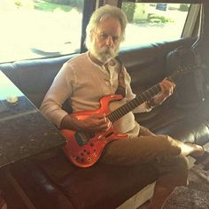 bobby on his bus picking