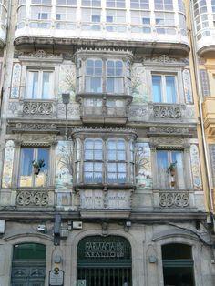 edificio modernista en La Coruña (Spain)