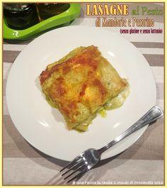 Noi adoriamo le Lasagne e questa oltre ad essere semplice e veloce è...BUONISSIMA: Lasagna, #senzaglutine #senzalattosio, con Pesto di Mandorle e Pecorino.
