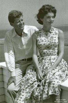 Jacqueline Bouvier Kennedy Onassis fashion - john and jackie kennedy.jpg