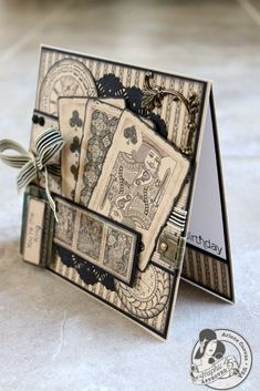 Masculine card using Graphic 45 Kraft Reflections
