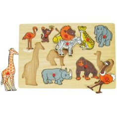 Knopp-pussel - djungeldjur - 10 bitar i gruppen - Pussel & spel hos Blå Elefant - Blaue Elefant (big-BJ096)