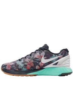 LIMITED EDITION Nike LunarGlide 6 Photosynthesis QS – Dark Obsidian /Teal Tint / Hot Lava / White