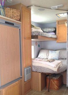 RV Bunks bedroom REMODEL Travel trailer camper turned glamper ...