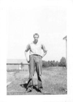 Black and White Vintage Snapshot Photograph Handsome Teen Boy Yard 1950'S | eBay