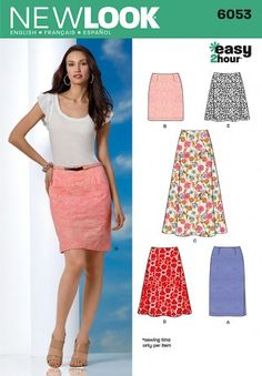 New Look Ladies Easy Sewing Pattern 6053 Skirts in 5 Variations   Sewing   Patterns   Minerva Crafts