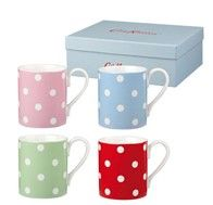 Cath Kidston polka-dot mugs