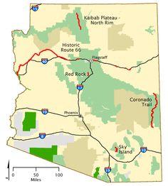 Kaibab PlateauNorth Rim Parkway Map Americas Byways Grand