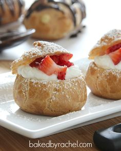 pate a choux: cream puffs and eclairs recipe from bakedbyrachel.com