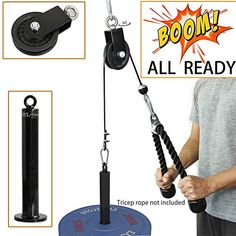 online shopping for SYL Fitness LAT Pulley System Loading Pin DIY Gym Cable Crossover Attachment from top store. See new offer for SYL Fitness LAT Pulley System Loading Pin DIY Gym Cable Crossover Attachment Fitness Workouts, Abs Workout Routines, At Home Workouts, Yoga Workouts, Homemade Gym Equipment, Best Home Gym Equipment, No Equipment Workout, Fitness Equipment, Home Made Gym