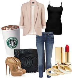The Starbucks is the best thing about the outfit! :p