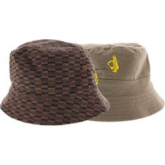 d0890641b6f Krooked Skateboards Checkered Eyes Reversible Brown Bucket Hat - new at  Warehouse Skateboards!  WHSkate
