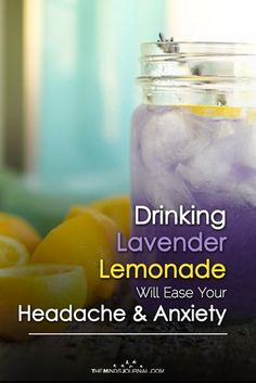 Headache Remedies - Did you know that lavender oil is an amazing essential oil which has a lot of health benefits? Drinking Lavender Lemonade Will Ease Your Headache And Anxiety Migraine Relief, Migraine Remedy, Anxiety Relief, Lavender Lemonade, Lavender Oil, Stomach Problems, Natural Headache Remedies, Tension Headache