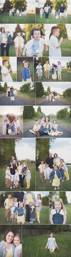 Family photography, ideas for posing, outdoor photography, lots of children, siblings, capturing moments