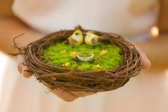 Signature Ring Bearer  Birdnest   by JloveS