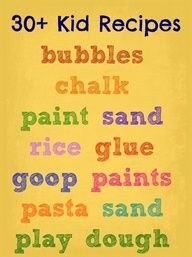 30+ of the best DIY ~~ Kid recipes and concoctions.  All in one place!
