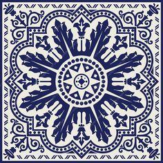 PRINTABLE Mandala style wall art, Navy blue Set of 2 medallion motif prints, Digital tiles Square geometric design, DIY posters Geometric Wall Art, Geometric Designs, Stencil, Home Decor Sets, Blue Tiles, Art Original, Art Mural, Wall Murals, Tile Patterns