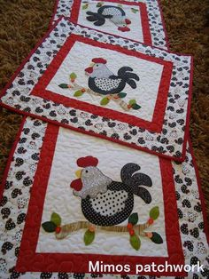 I love the quilt design, but I especially want that chicken-print fabric  they