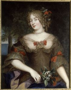 The Comtesse de Grignan (1648-1705). Daughter of the Marquise de Sevigne and recipient of many of her wonderful letters. Portrait by Pierre Mignard (1612-1695) from the collection of Madame de Sevigny and still hanging in her former home in the Marais, Paris, now the Musee Carnavalet.