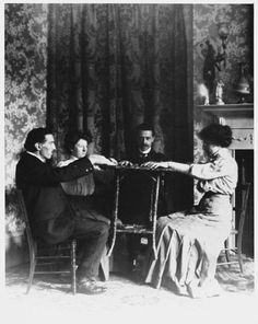 Victorian seance - levitation.