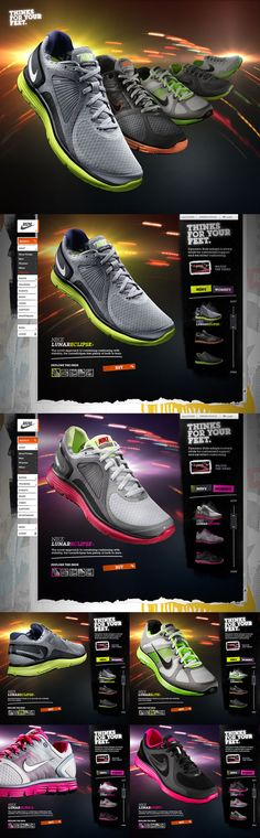 #Nike Running by Rasmus Wangelin, via #Behance #Webdesign