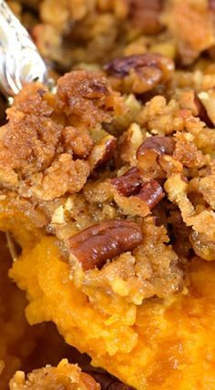 Sweet Potato Casserole graces my family table every fall. With it's rich, buttery taste and crunchy topping, sweet potato casserole makes for a perfect side dish, but is sweet enough to serve as a dessert. Fall Recipes, Holiday Recipes, Pumpkin Recipes, Thanksgiving Side Dishes, Thanksgiving Sweet Potato Recipes, Thanksgiving Desserts, Thanksgiving Turkey, Christmas Desserts, Traditional Thanksgiving Recipes
