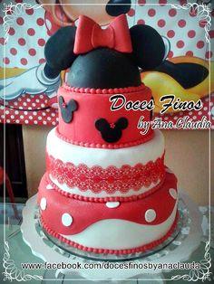 Bolo da Minnie vermelho, Cake Minnie