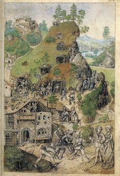 Hausbuch_Wolfegg_35r_Bergwerk.jpg (2068×3026)