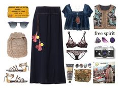 """""""Woodstock"""" by blackmak ❤ liked on Polyvore featuring Patrizia Pepe, Giuseppe Zanotti, William Morris, Aéropostale, Vineet Bahl, Calypso Private Label, Scoop, ASOS, L'Agent By Agent Provocateur and Agent Provocateur"""