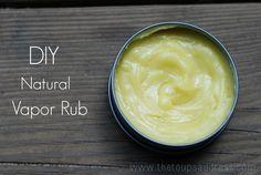 DIY Natural Vapor Rub