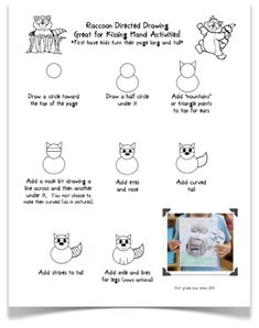 First Grade Blue Skies: My Week and a Kissing Hand Directed Drawing Freebie