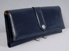 DELVAUX Bruxelles Vintage Ultra Rare 1960s Leather Rectangular Clutch Bag by vdpshop on Etsy
