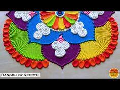 Big rangoli design l Rangoli designs with colours l रांगोळी l रंगोली का वीडियो l रांगोळी डिझाईन सोपी - YouTube