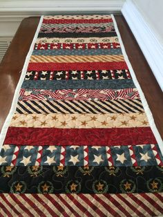Reserved for Sue 4th of July table runner by TheQuiltedPillow