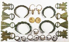 Women's jewelry. The Finno-Ugric peoples, X-XI century.