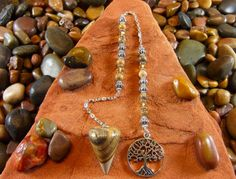 Picture Jasper Tree of Life Pendulum by StarshineBeads on Etsy