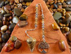 Picture Jasper Tree of Life Pendulum  Picture by StarshineBeads