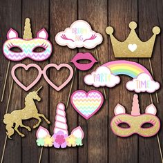 Wish | Beauty Unicorn Crown Heart Photo Booth Props Camera DIY Wedding Decor Party Photography Prop Christmas Ornament